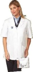 105 Ladies' Short Sleeve Lab Coat