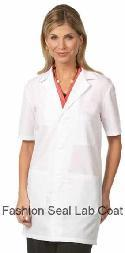 3409 Unisex Short Sleeve Lab Coat