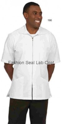 190 : 193 Fashion Seal Unisex Zip Front Lab Shirts - Product Image