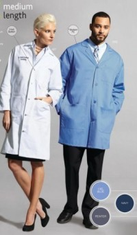 3302 : 3303 : 3304 Fashion Seal Unisex Color Lab Coats - Product Image
