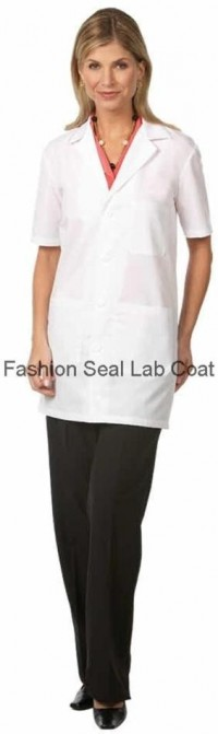 3409 Fashion Seal Unisex Short Sleeve Lab Coat