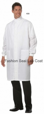 409 Fashion Seal Unisex Protective Coats with Hook & Loop Closure at Neck - Product Image
