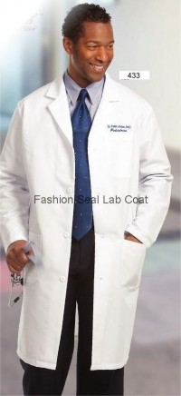433 Fashion Seal Mens Knee Length Lab Coats - Product Image