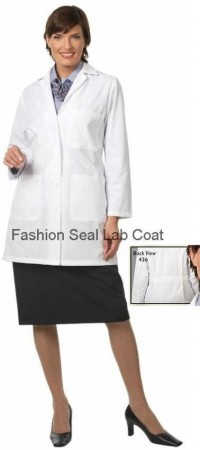 436 Fashion Seal Ladies Skimmer Length Lab Coats - Product Image