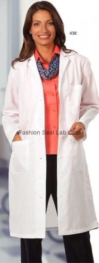 438 Fashion Seal Ladies Full Length Lab Coat - Product Image