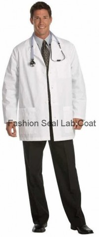 447 Fashion Seal Men Short Lab Coat - Product Image