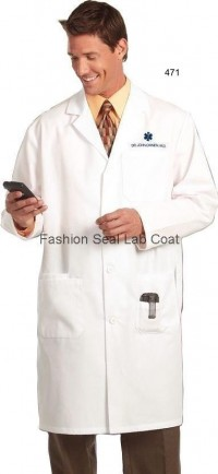 471 Fashion Seal Mens Knee Length Lab Coats - Product Image