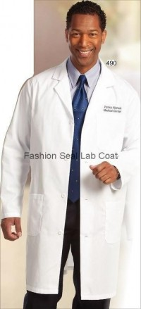 490 Fashion Seal Mens Staff Length Lab Coats - Product Image