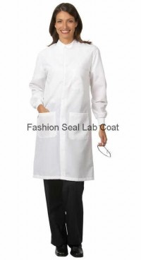 6403 : 6404 : 6406 Fashion Seal Unisex Protective Coats with Snap Closure at Neck - Product Image